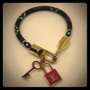 LOUIS VUITTON Monogram multicolor Luck It bracelet
